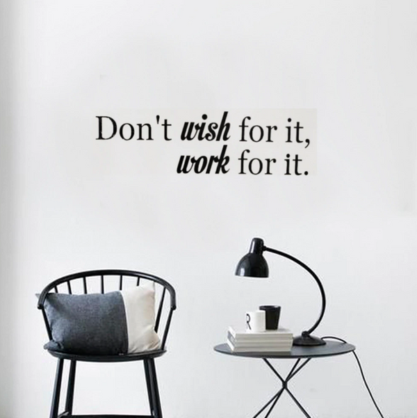 Work For It Wall Sticker