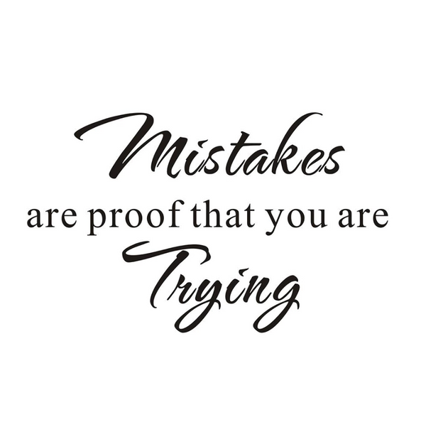 Mistakes Wall Sticker