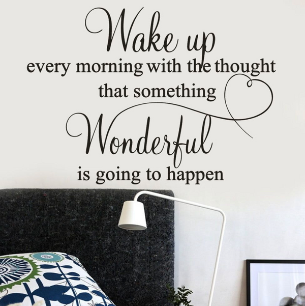 Morning Reminder Wall Sticker