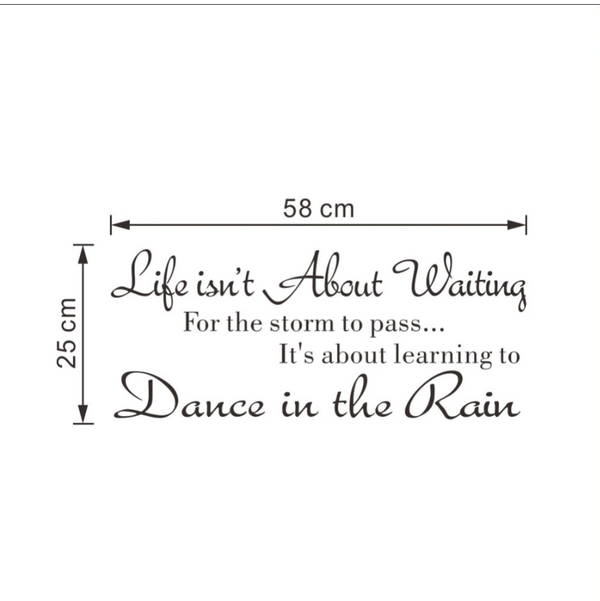 Life Quote Wall Sticker