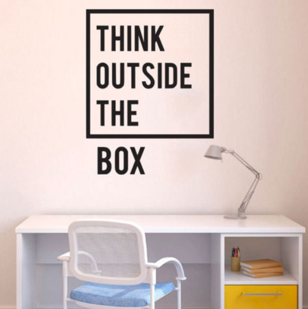 Think Outside The Box Wall Sticker