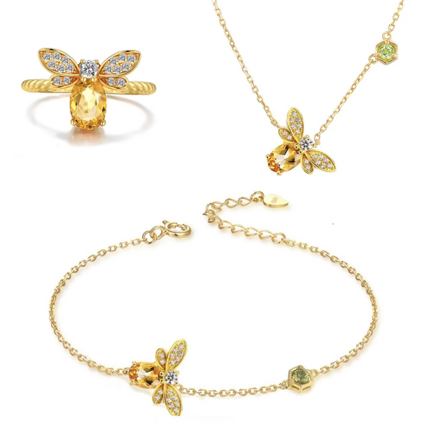 Prosperity Bee Jewelry Set