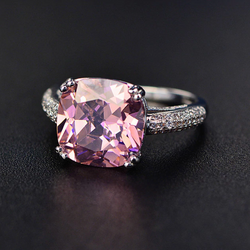 Love Cushion-Cut Ring