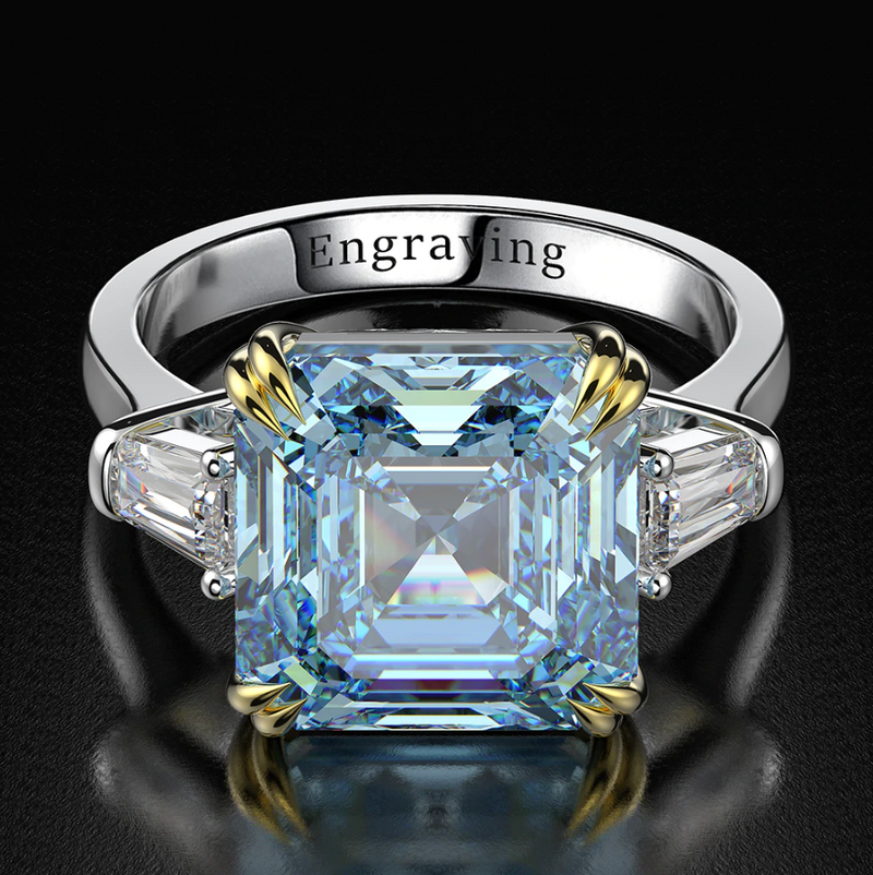 Empathy Asscher-Cut Ring