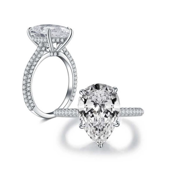 Abundance Moissanite Pear-Cut Ring