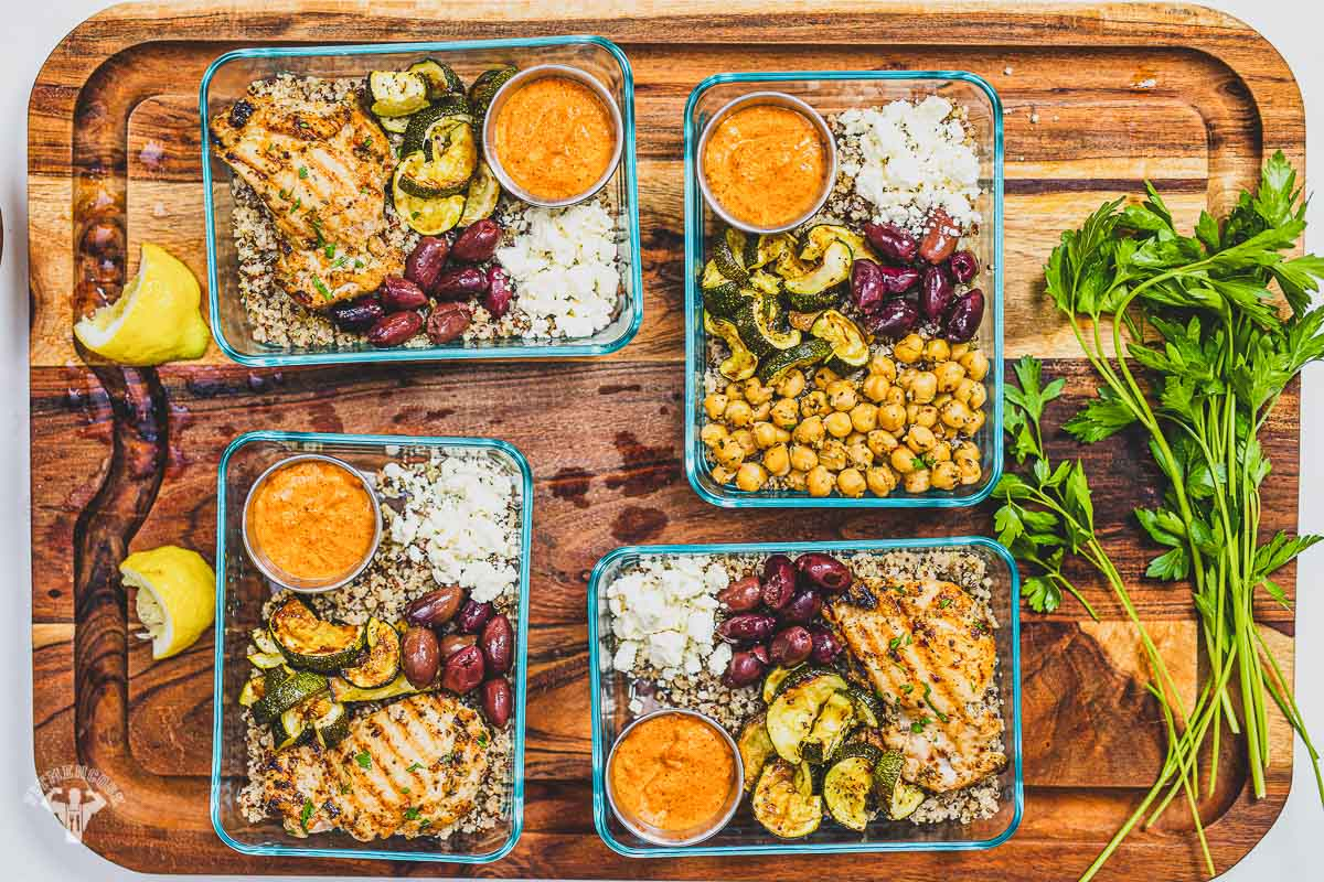Mediterranean Meal Prep Lunch Box