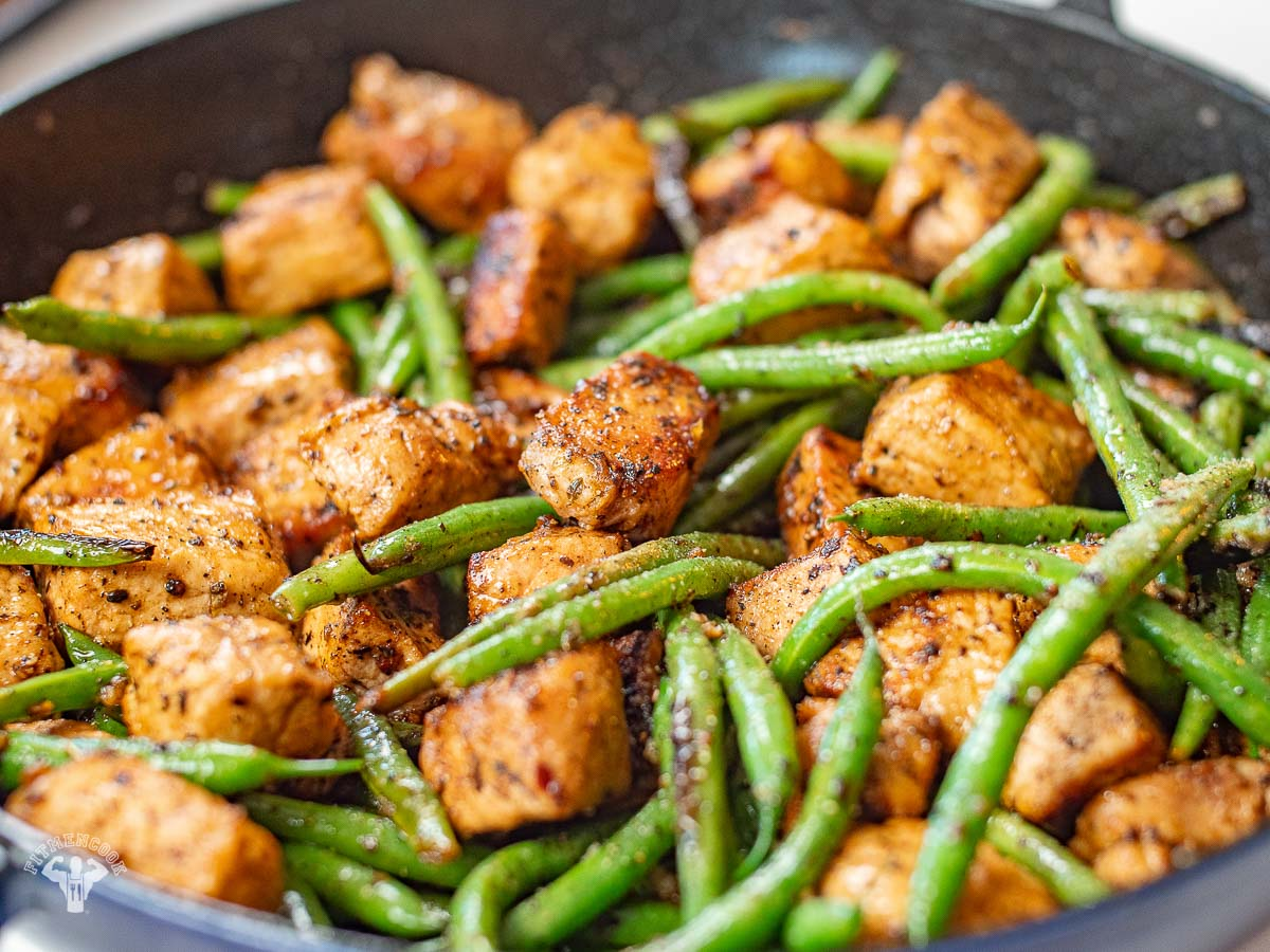 Butter Garlic Pork & Green Beans