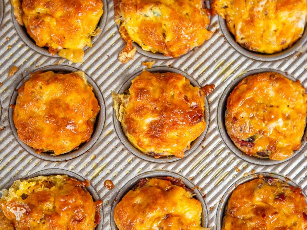 Bacon, Egg & Cheese Frittata Muffins