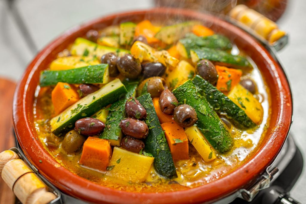 Lighter Moroccan Chicken & Veggie Tagine