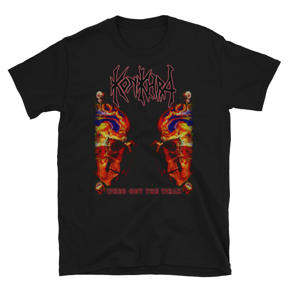 KONKHRA - WEED OUT THE WEAK (Black/Front and Back Print/Short-Sleeve Unisex T-Shirt)
