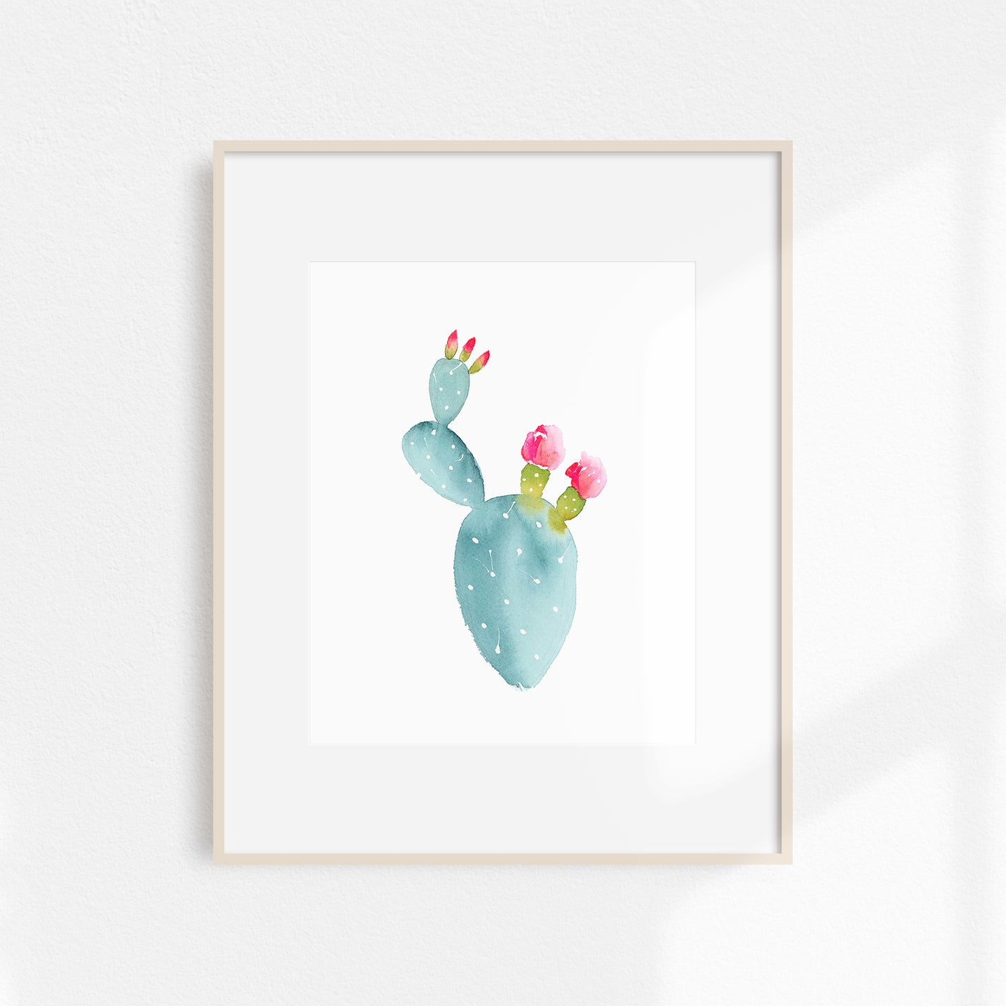 Watercolor Flowering Cactus Print