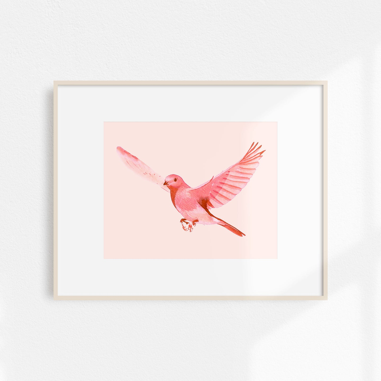 Watercolor Bird Print