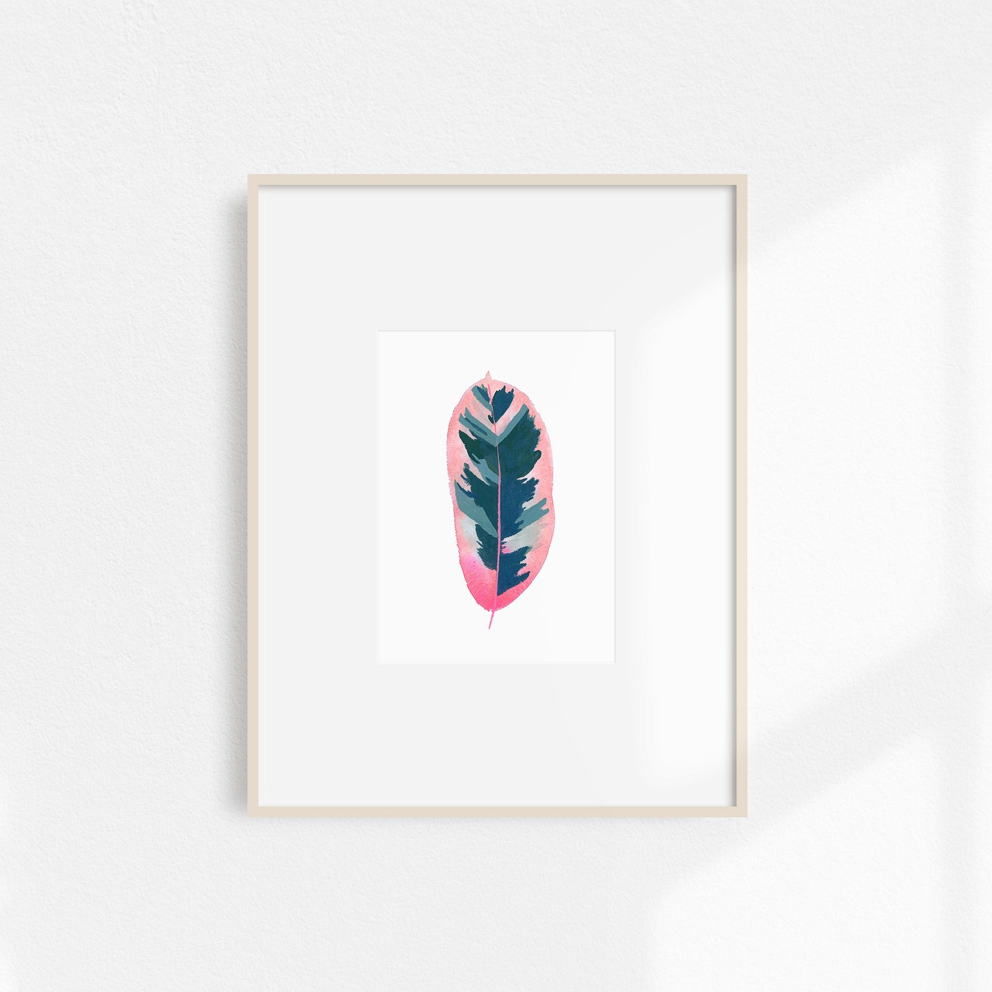 Watercolor Rubber Tree Print Small