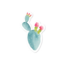 Load image into Gallery viewer, Pink Flower Cactus Sticker No. 02