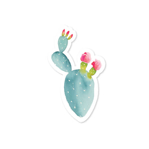 Pink Flower Cactus Sticker No. 02