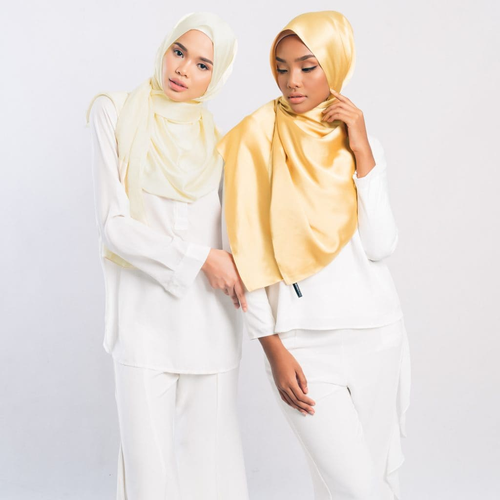 Maysaa satinsilk yellow