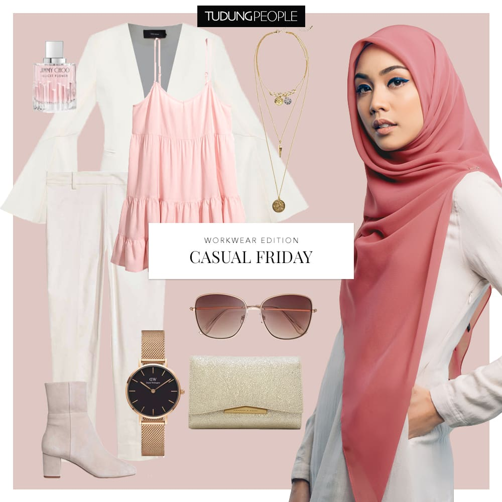 Nisa Cheeky square hijab - Tudungpeople workwear stylefile