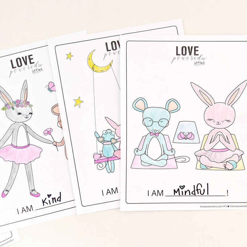 Love Powered Littles - Digital Affirmation Coloring Book