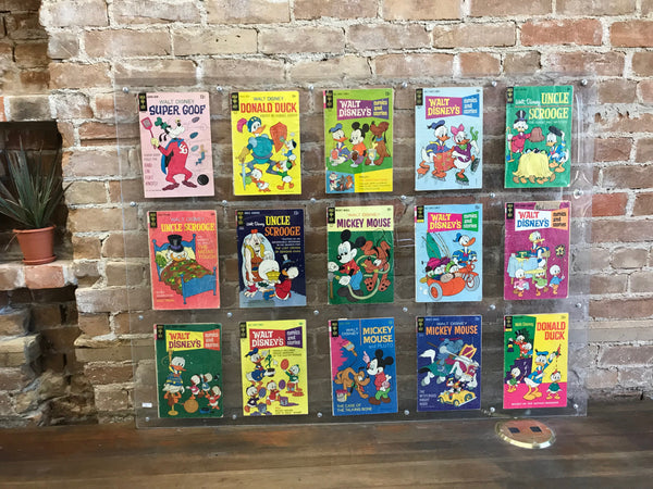 Set of 12 Vintage Walt Disney Comic Books Circa 1969