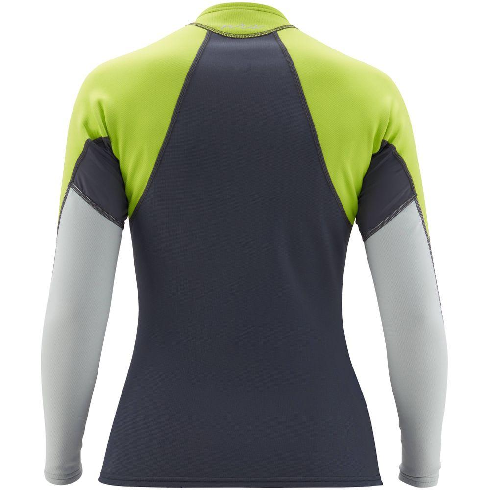 NRS Women's HydroSkin Long Sleeve Shirt neopren paddeltröja dark shadow