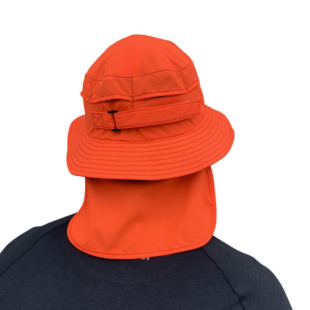 Vaikobi Downwind surfski hat orange back with flap