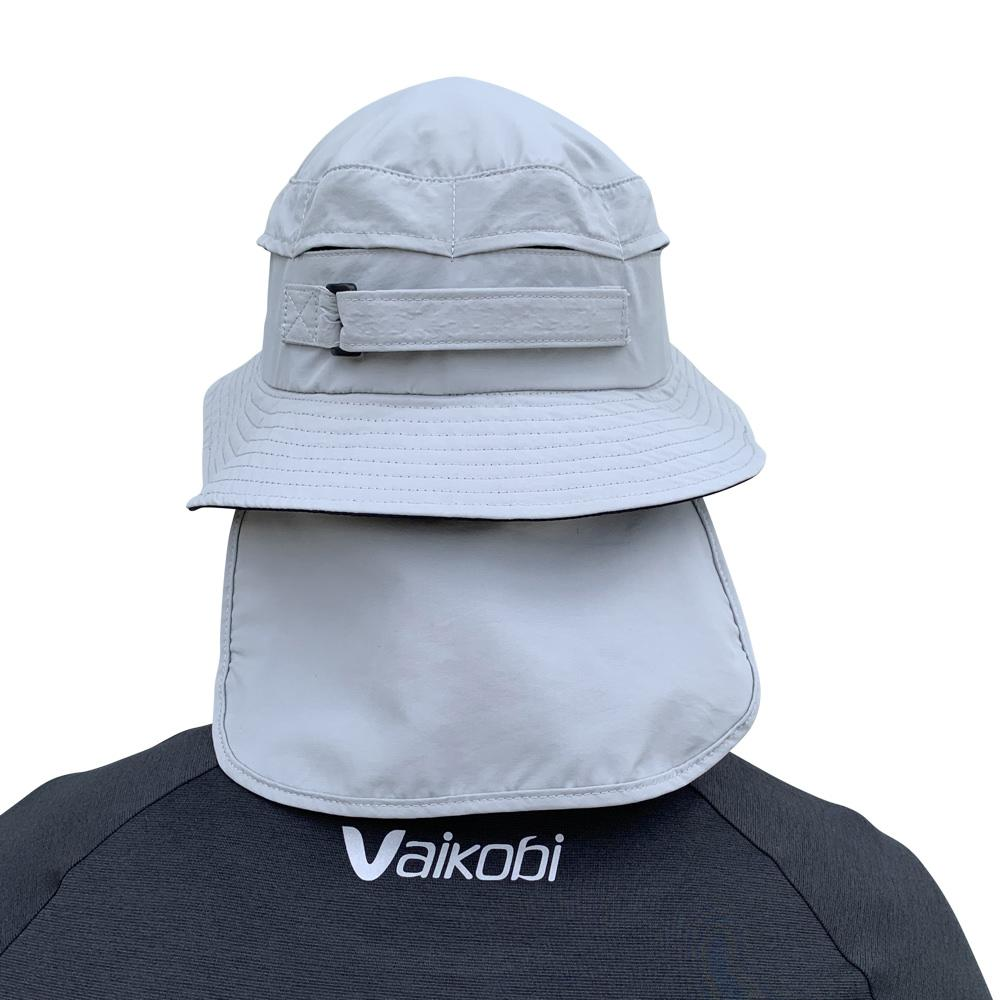 Vaikobi Downwind surfski hat grey back with flap