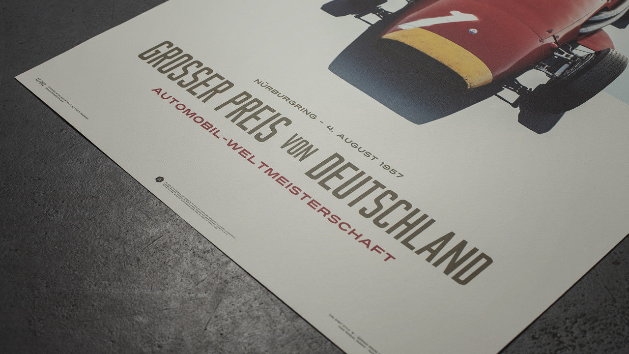 Maserati 250F - German Grand Prix 1957 Poster