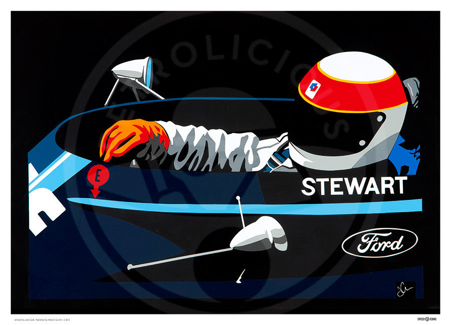 Jackie Stewart Speed Icons Limited Edition Print