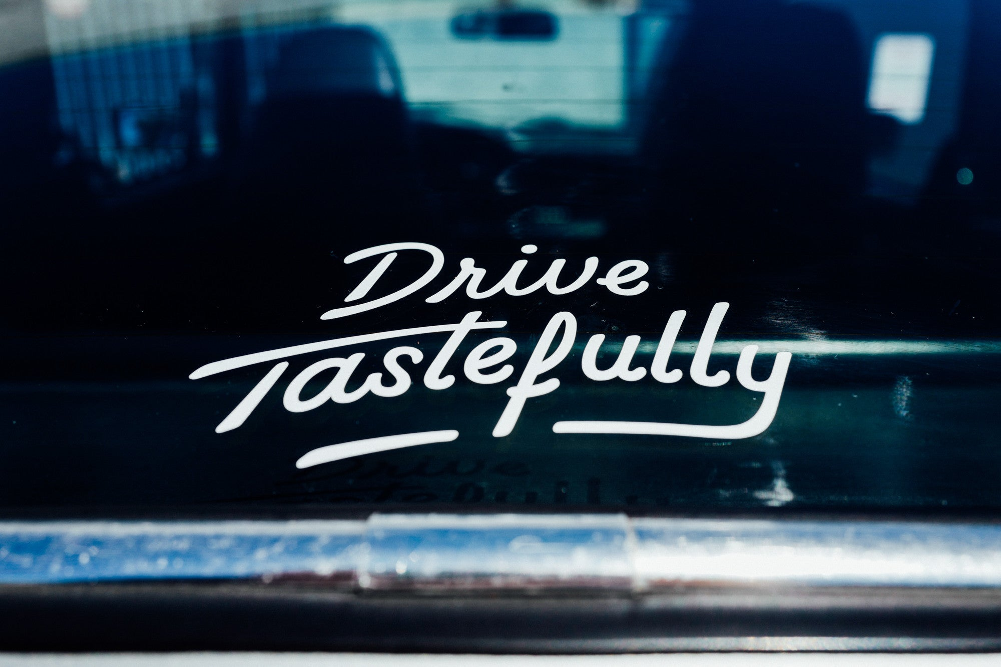 """Drive Tastefully"" Vinyl Decal"