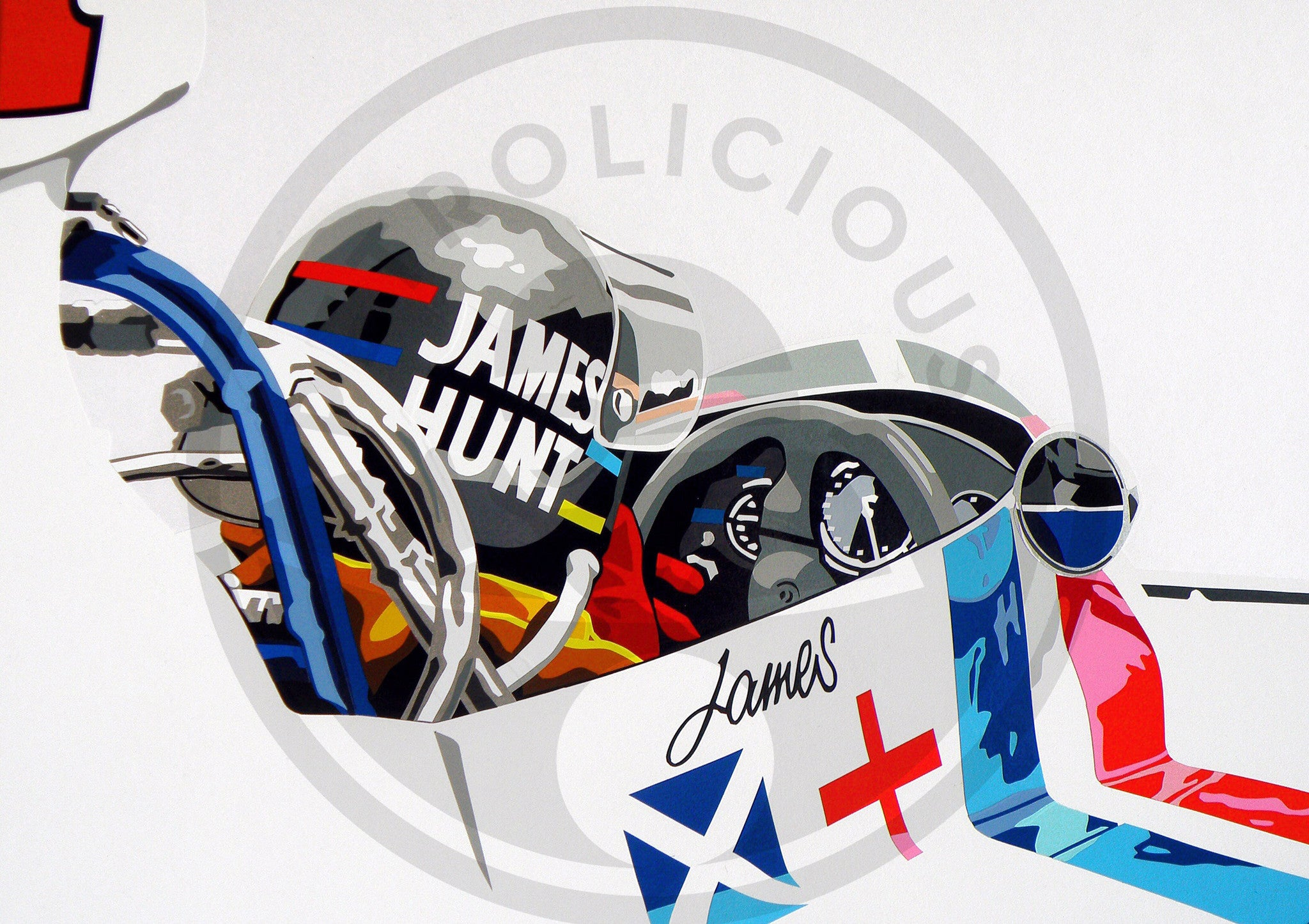 James Hunt Speed Icons Limited Edition Print
