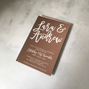 Cocktail Acrylic Mirror Wedding Invitation