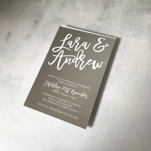 Load image into Gallery viewer, Cocktail Acrylic Mirror Wedding Invitation