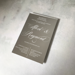 Formal Acrylic Mirror Wedding Invitation