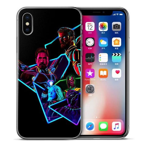 Coque Iphone Avengers V3 Neon-Marvel World Shop