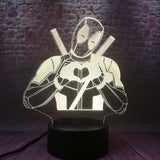 Lampe Led 3D Deadpool
