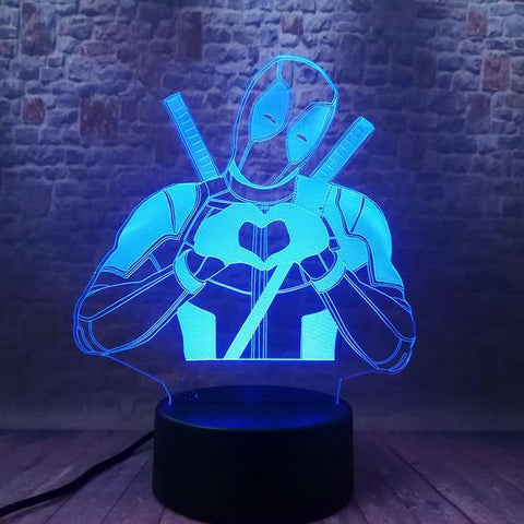 Lampe Marvel 3D Deadpool