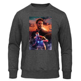 Avengers Endgame Iron Man Sweatshirt Casual Tony Stark Hoodie Sweatshirt Men Fleece Brand Pullover Fashion Superhero Streetwear