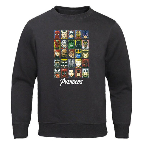 The Avengers Men Hoodies Super Hero Sweatshirts Cotton Man Casual Pullovers 2019 New Autumn Sportswear Sweatshirt Fashion Tops