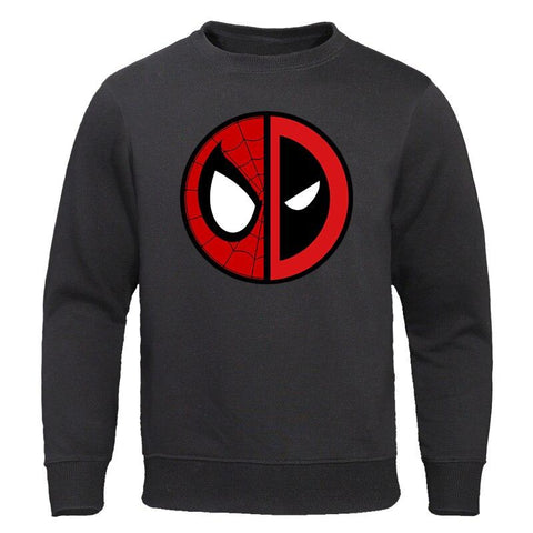 2019 Autumn Funny Deadpool Spiderman Brand Sweatshirts Men High Quality MARVEL fashion mens hoodies Harajuku Streetwear Pullover
