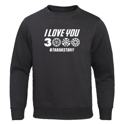 Iron Man I Love You 3000 Hoodie Swearshirt Thanks Tony Tracksuit 2019 Autumn Warm Sweatshirts Streetwear Harajuku Pullover Hoody