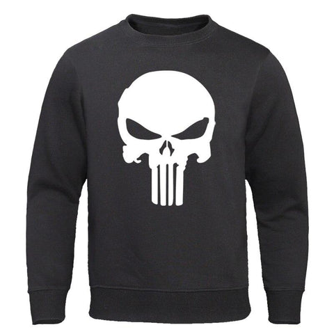 Punisher Hoodies SKULL Print Punk Streetwear Tops 2019 New Hot Sale Sweatshirts For Male Tracksuit Harajuku Brand Cool Pullovers