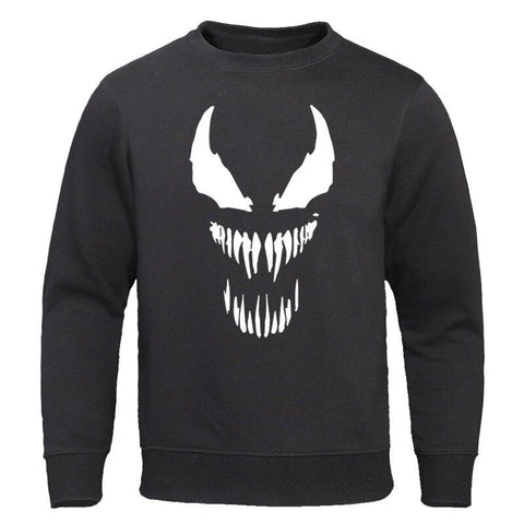 Venom Men Clothing 2019 Autumn Pullovers Cool Comic Printed Men's Hoodies Anime High Quality Man Tops Cotton Male Sweatshirts