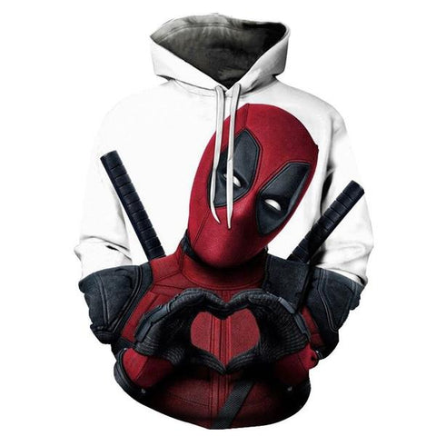 "Sweat Marvel Deadpool ""Cœur""-Marvel World Shop"