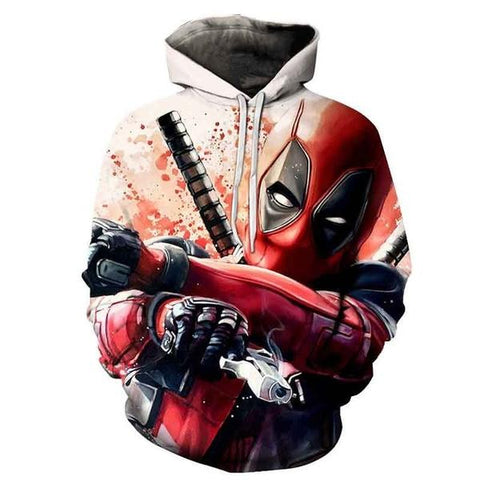"Sweat Marvel Deadpool ""Feu !""-Marvel World Shop"