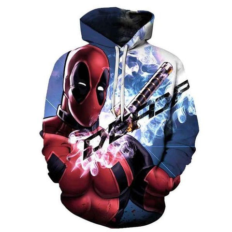"Sweat Marvel Deadpool ""Fumée""-Marvel World Shop"
