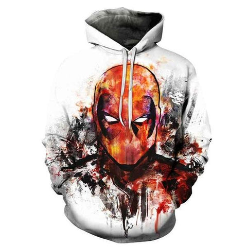 "Sweat Marvel Deadpool ""Peinture""-Marvel World Shop"
