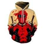 "Sweat Marvel Deadpool ""Sang""-Marvel World Shop"
