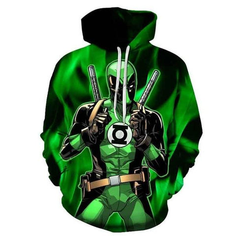 Sweat Marvel Deadpool x Green Lantern-Marvel World Shop