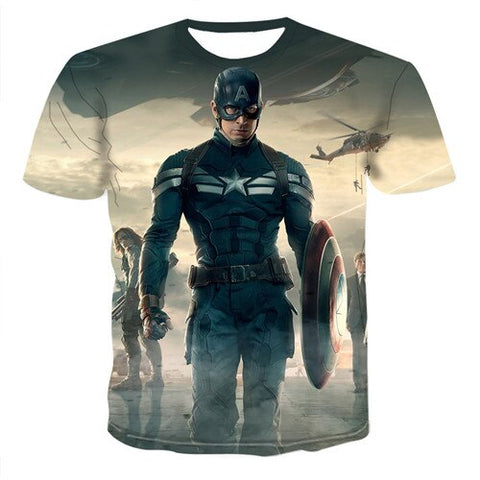 T-Shirt Captain America Sport-Marvel World Shop