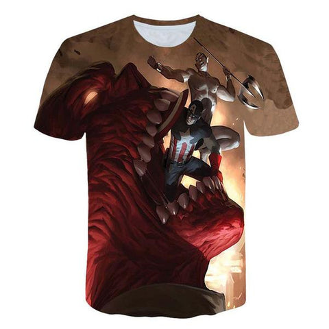 T-Shirt Captain America Civil War-Marvel World Shop